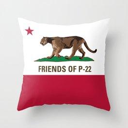 Friends of P-22 Throw Pillow