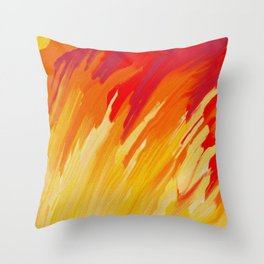 Come Aflame Painting Throw Pillow