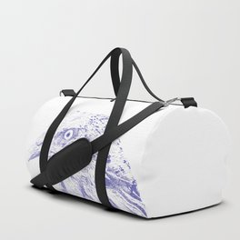 she's a beauty drawing, blue Duffle Bag