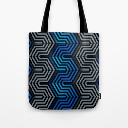 Technologic industrial hexagonal surface Tote Bag