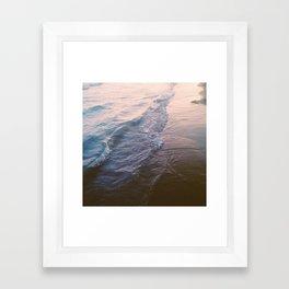 Sunset waves Framed Art Print