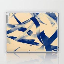 Blue paper stripes Laptop & iPad Skin