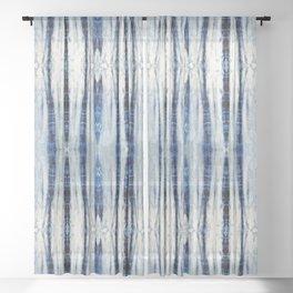Nori Blue Sheer Curtain