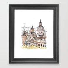 Views of Florence - Italian cityscape Framed Art Print