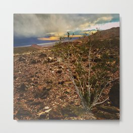 Storm Moving In Over Death Valley Metal Print