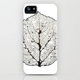 Aspen Leaf Skeleton 1 iPhone Case