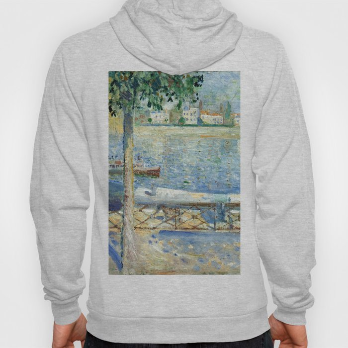 The Seine at Saint-Cloud by Edvard Munch Hoody