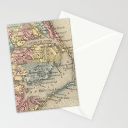 Vintage Map of The Outer Banks (1859) Stationery Cards