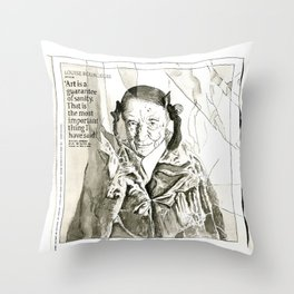 Art is a guarantee of Sanity Throw Pillow