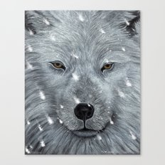 The Amber Eyed Wolf Canvas Print