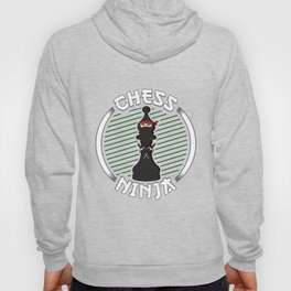 Chess Ninja Fighting Bishop Figure - Cool Chess Club Gift Hoody