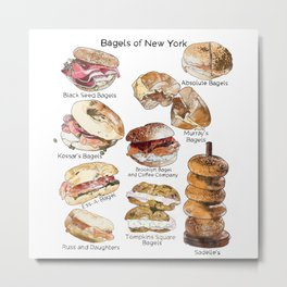 Bagels of New York City Metal Print