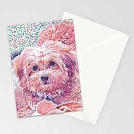 Copper the havapookie as a puppy Stationery Cards