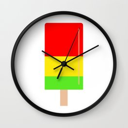 Popsicle colorful design Wall Clock