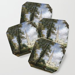 John Constable Salisbury Cathedral from the Bishop's Garden Coaster