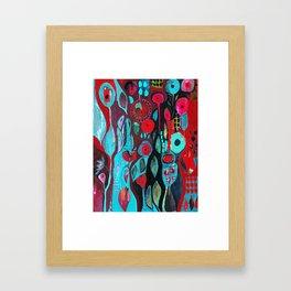 Flowers and owl Framed Art Print