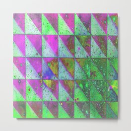 GIRLY TRIANGLES TILE Metal Print