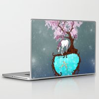 the last unicorn Laptop & iPad Skins featuring Last Unicorn by Astrablink7