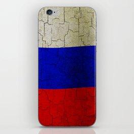 Grunge Russia flag iPhone Skin