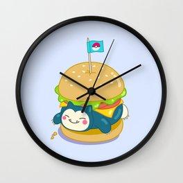 Snorlax Burger Wall Clock