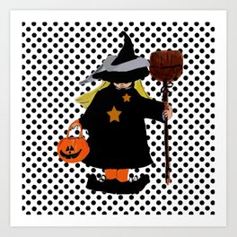 My Little Witch, Halloween Costume Art Print