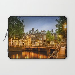 AMSTERDAM Idyllic impression from Singel Laptop Sleeve