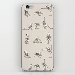 Skeleton Yoga iPhone Skin