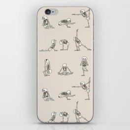Skeleton Yoga iPhone Skin