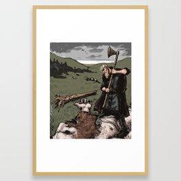 Giant Slayer Framed Art Print