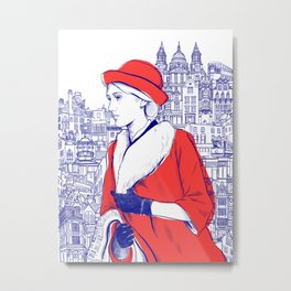 Clarissa Dalloway - Virginia Woolf Metal Print