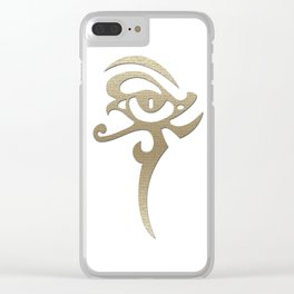 solid gold Clear iPhone Case