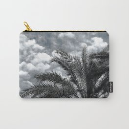 Tropical Island Palm Trees Upshot Framed By Clouds Carry-All Pouch