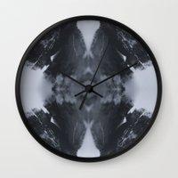 moth Wall Clocks featuring Moth  by Ali Prentice