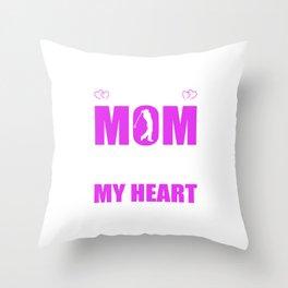 Golf Moms Full Heart Mothers Day T-Shirt Throw Pillow