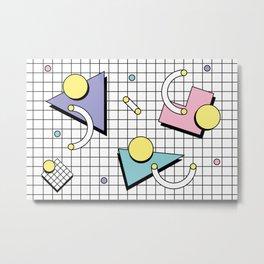Memphis Pattern 26 - 80s - 90s Retro / Geometric Metal Print