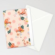 Flamingo Jazz #society6 #decor #pattern Stationery Cards