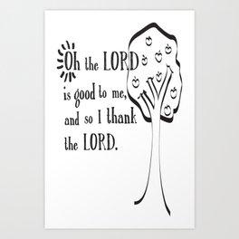 Johnny Appleseed Song Prayer 2 Art Print
