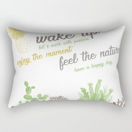 wake up Rectangular Pillow