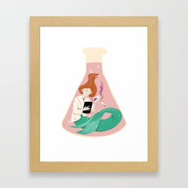 Science Mermaid Framed Art Print