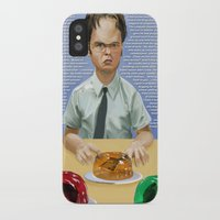 dwight iPhone & iPod Cases featuring Dwight by Richtoon
