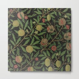 "William Morris ""Fruit or Pomegranate"" 8. Metal Print"
