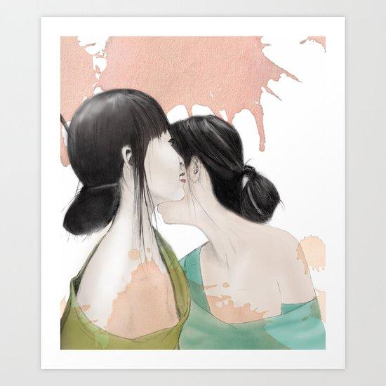 tell me a secret Art Print