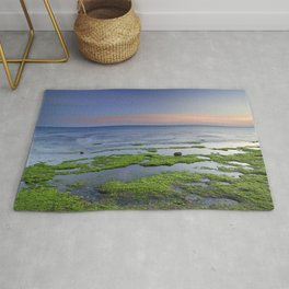 Green and blue. Sunset Rug