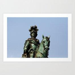 King Joseph I Equestrian Statue, Lisbon, Portugal Art Print