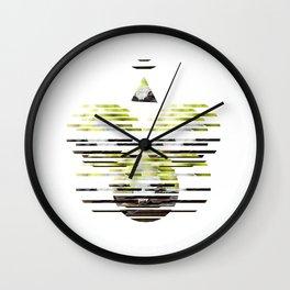 Sliced Deer Skull  Wall Clock
