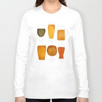 beer Long Sleeve T-shirts featuring Beer by Cat Coquillette