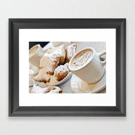 New Orleans Beignets and Café au Lait Framed Art Print