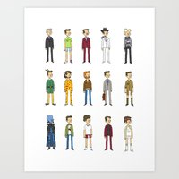 will ferrell Art Prints featuring Ferrells by Justyna Wycislak