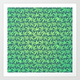 Cannabis / Hemp / 420 / Marijuana  - Pattern Art Print