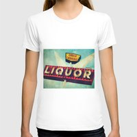novelty T-shirts featuring A Great Day Indeed: Check Cashing & Liquor! by Honey Malek